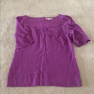 Banana Republic 100% Silk Purple Blouse